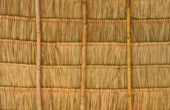 Tejado cubierto con paja tropical Fotos de archivo libres de regalías