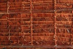 Tejado de bambú Fotografía de archivo