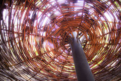 Tejado de bambú colorido Foto de archivo