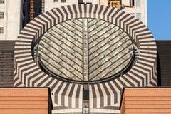 Tejado de cristal circular Imágenes de archivo libres de regalías