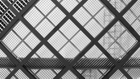 Tejado de cristal en arquitectura moderna Imagenes de archivo