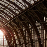 Tejado de la estación de tren Imagen de archivo