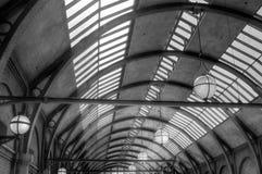 Tejado de la estación de tren Fotografía de archivo libre de regalías