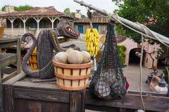 Tejado de la travesía de la selva de Disneyland Adventureland Imagen de archivo libre de regalías