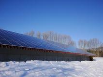 Tejado de las células solares Fotografía de archivo