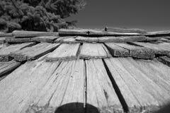 Tejado de madera Imagenes de archivo