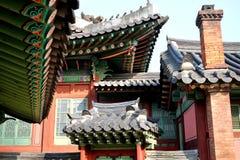 Tejado de madera coreano fotografía de archivo libre de regalías