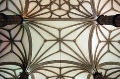 Tejado de piedra del techo de la iglesia Foto de archivo