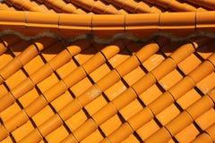 Tejado de teja de la terracota Fotografía de archivo libre de regalías