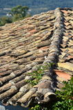 Tejado de teja de la terracota Imágenes de archivo libres de regalías