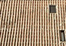 Tejado de tejas invertidas Fotografía de archivo