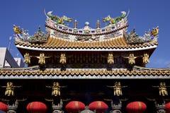 Tejado decorativo del Chinatown Foto de archivo libre de regalías