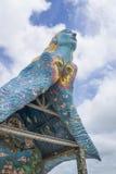 Tejado del ángulo del santuario esmaltado de la teja Imagenes de archivo