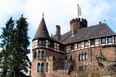 Tejado del castillo medieval Berlepsch en Alemania Imagen de archivo