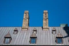 Tejado del edificio en la ciudad de Quebec Imagenes de archivo