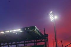 Tejado del estadio de fútbol foto de archivo