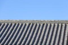 Tejado del estilo japonés Imagen de archivo libre de regalías