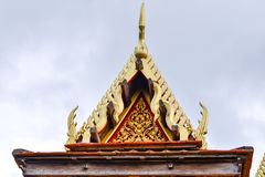 Tejado del estilo tailandés Fotografía de archivo