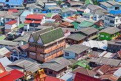 Tejado del pueblo en KohSrichang Fotografía de archivo libre de regalías