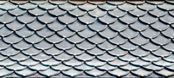 Tejado del tejado de Wat en templo Fotos de archivo libres de regalías