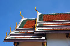 tejado del templo de Wat Phra Kaew Grand Palace Fotografía de archivo