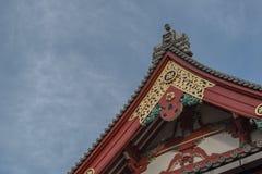 Tejado del templo del sensoji en el asakusa Tokio, Japón Fotos de archivo