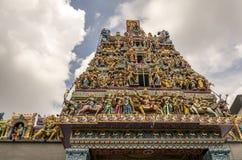 Tejado del templo hindú Fotografía de archivo