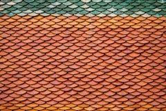 Tejado del templo, modelo del tejado Fotografía de archivo