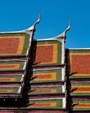 Tejado del templo tailandés Fotografía de archivo libre de regalías