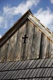 Tejado histórico con símbolo santo Fotos de archivo libres de regalías