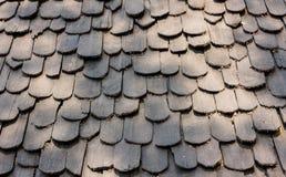 Tejado negro de madera Fotos de archivo
