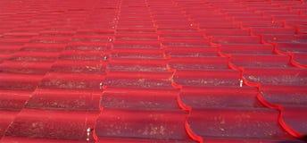 Tejado rojo Fotografía de archivo