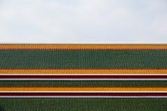 Tejado tailandés colorido del templo Fotografía de archivo