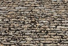 Tejado tejado tradicional en la Dordoña, que mientras que una vez muy es común en el área está llegando a ser muy rara aquitaine foto de archivo libre de regalías