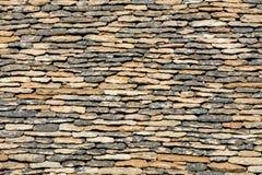 Tejado tejado tradicional en la Dordo?a, que mientras que una vez muy es com?n en el ?rea est? llegando a ser muy rara aquitaine foto de archivo libre de regalías