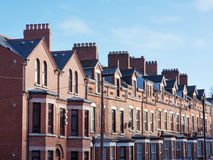 Tejado y chimeneas en Belfast fotografía de archivo libre de regalías