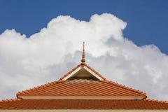 Tejado y cielo Imagen de archivo libre de regalías