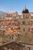 tejados Campanario franciscano del monasterio dubrovnik Croacia Imagenes de archivo