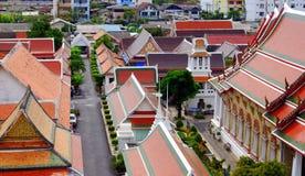 Tejados coloridos del palacio de Bangkok Fotos de archivo