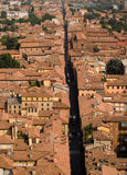 Tejados de Bolonia Imagenes de archivo
