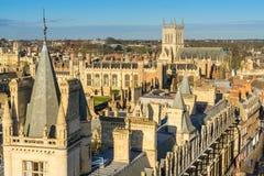 Tejados de Cambridge Fotografía de archivo libre de regalías