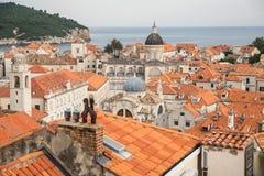 Tejados de Dubrovnik Fotografía de archivo