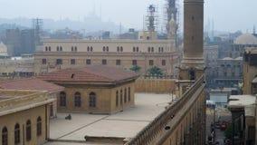 Tejados de El Cairo islámico almacen de metraje de vídeo