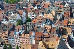 Tejados de Estrasburgo Fotos de archivo libres de regalías