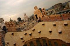 Tejados de Gaudi Fotografía de archivo