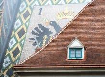 Tejados de la casa de ciudad vieja y de Stephansdom en Viena Fotografía de archivo libre de regalías