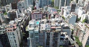 Tejados de la ciudad en Buenos Aires almacen de metraje de vídeo