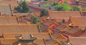 Tejados de la ciudad Prohibida en Pekín Fotos de archivo