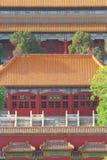 Tejados de la ciudad Prohibida en Pekín Foto de archivo libre de regalías