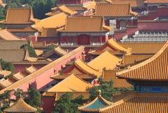 Tejados de la ciudad Prohibida en Pekín Imagen de archivo